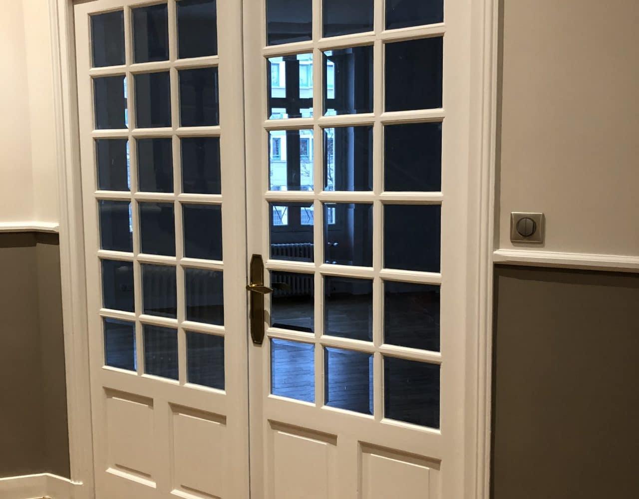 portes vitrées bois